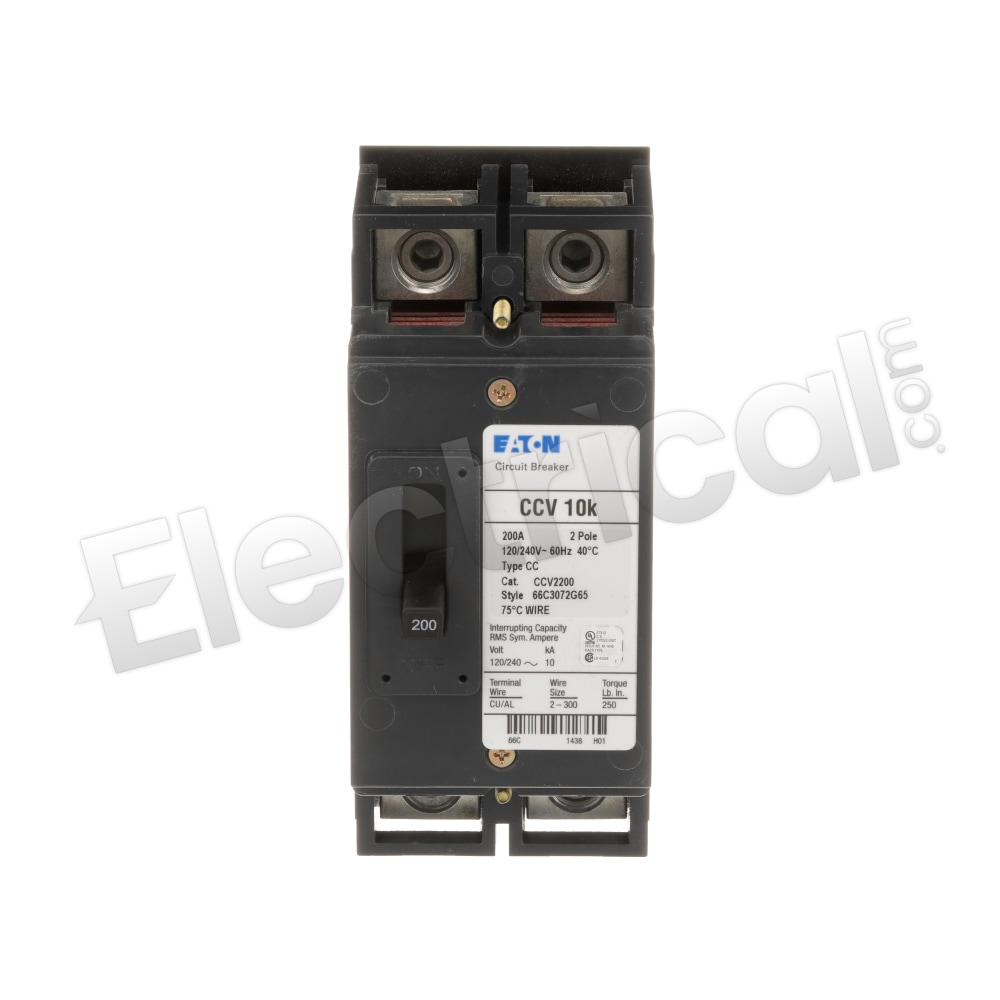 10 kAIC 2P Type CCV Tenant CB Eaton CCV2200X 200A 120//240V