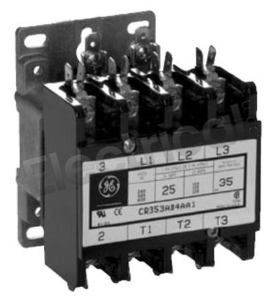 GE Contactor CR353AB3AA1 25A 600V 120V Coil