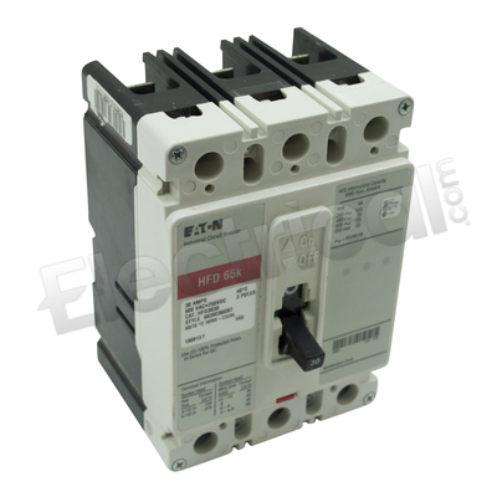 Eaton HFD3030 WESTINGHOUSE 3 Pole 30 AMP Circuit Breaker