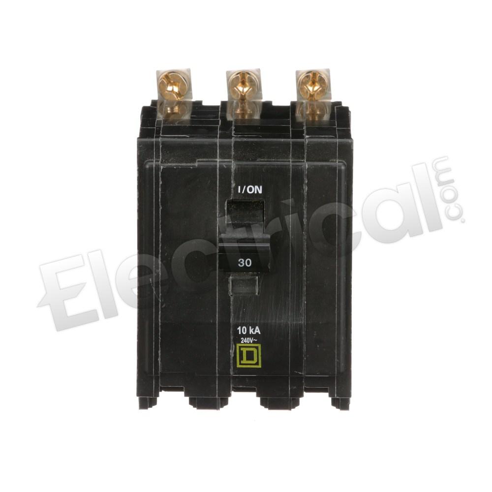 QOB340GFI SQD 3P 40AMP GFI BREAKER IN BOX
