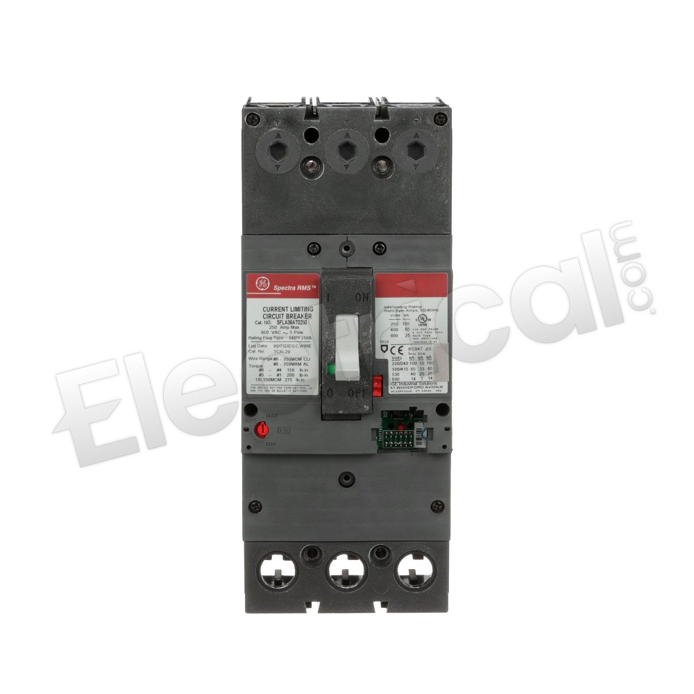 GE SPECTRA RMS SFLA36AT0250 CURRENT LIMITING CIRCUIT BREAKER 250A 600V 3 POLE