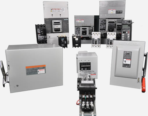 Siemens Circuit Breakers Motor Controls Bus Plugs Fusible Switches Transformers Control Parts